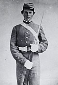 Cadet Greene Marshall Labuzan from Mobile entered the University of Alabama in 1863 at the age of seventeen. Labuzan, who later became a successful attorney, took command of the skirmishers after John H. Murfee was wounded. (Courtesy W.S. Hoole Special Collections Library, University of Alabama.)