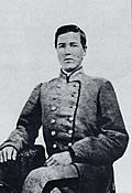Jefferson Elisha Bozeman (1844-1897), from Autauga County, entered the University in 1862 and was one of the cadets who met Croxtons forces on River Hill. He later served as a state representative. (Courtesy W.S. Hoole Special Collections Library, University of Alabama.)